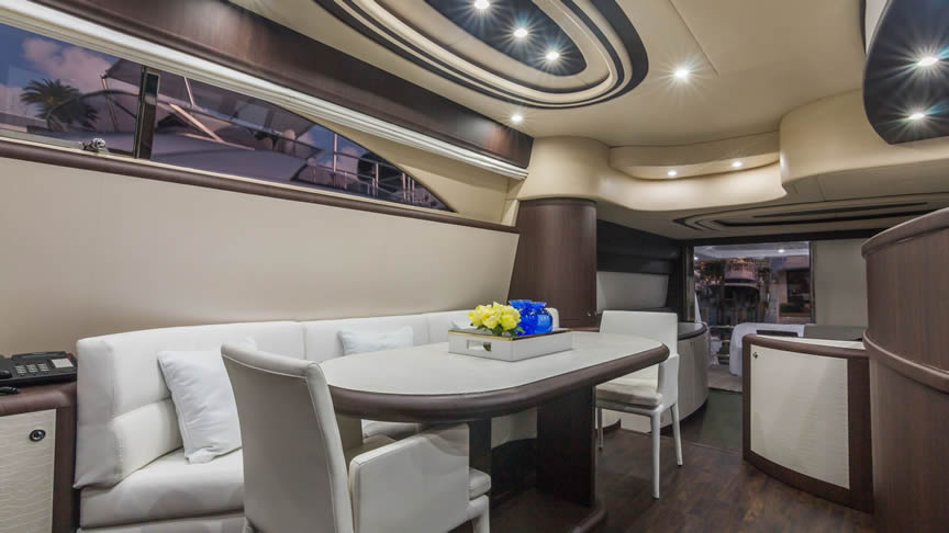 "Image of 72 Ft. Uniesse Yacht ""NEXT"" Interior"
